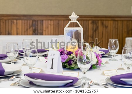 Candle Lantern Wedding Reception Centerpieces Stock Photo Edit Now