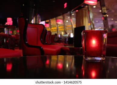 candle light in an atmospheric lounge bar