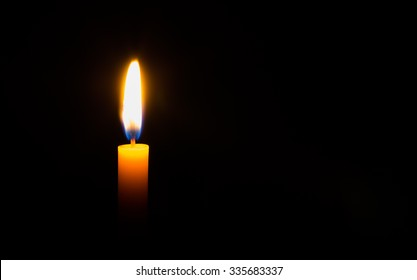 candle light in black background