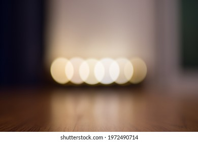 candle light blurred background , warm ambiance, use for background such as yoga studio product