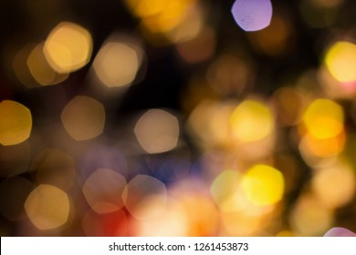 Candle light boke blur for background/Street lights boke blur for background/bokeh background. Defocused - Image