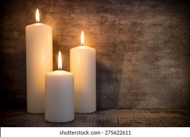 Candle, candle light composition different rituals.
