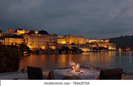Candle light dinner in Udaipur