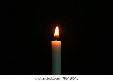 candle light and smoke
