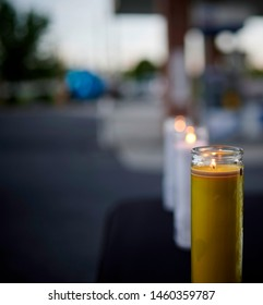 Candle Light Vigil with nice Bokeh effect.