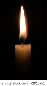 Candle lighting in the dark