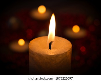 candle lights in the dark