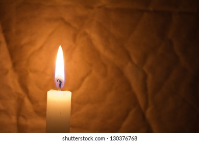 candle lit at night