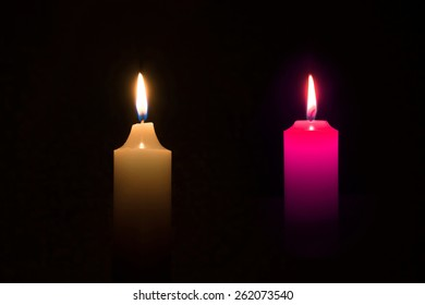 candle on background