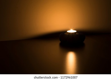 candle reflection background for Christmas,blessed Friday message for Muslim or spa, meditation and greeting card concept.