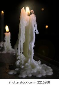 A candle shaped like an angel