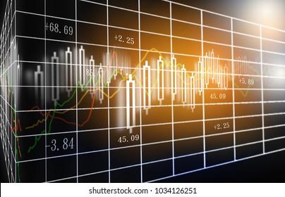 Candle stick graph chart of stock market investment trading, Bullish point, Bearish point.