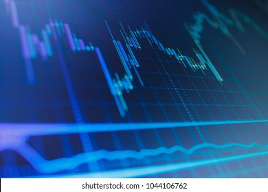 Candle stick graph chart of stock market investment trading Stock exchange graph. Abstract finance background. Conceptual view of the foreign exchange market.
