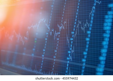 Candle stick graph chart of stock market investment trading