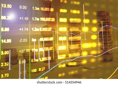 Candle stick graph chart of stock market investment trading in Stock market, Forex market and Gold market. Financial accounting of profit summary graphs analysis.
