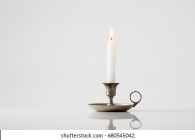 Candle stick holder on white background