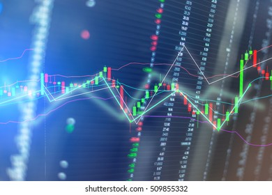 Candle sticks graph chart of stock market investment trading