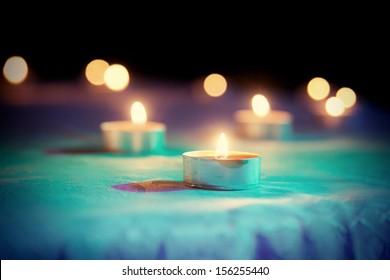 Candle, toned image