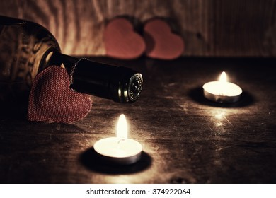 candle valentine heart