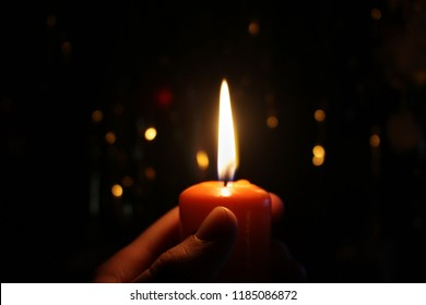 Candlelight in black background