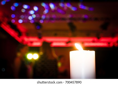 Candlelight and Dancing at Wedding
