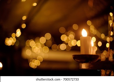Candlelight in the dark/ wedding decoration