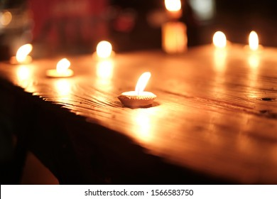 Candlelight on a beautiful bokeh sheet