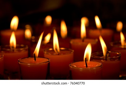 candlelight in small glass