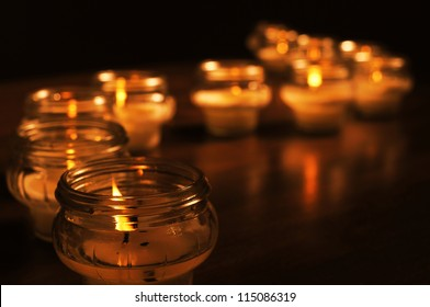 Candles for All Souls Day. OTHER PHOTOS FROM THIS SERIES IN MY PORTFOLIO.