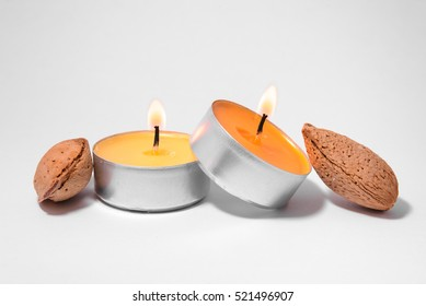 Candles and almonds