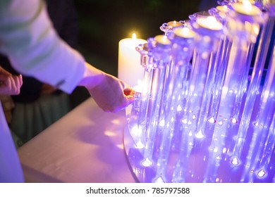 candles of the bride and groom
