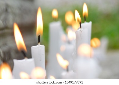candles in the cemetery