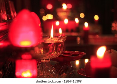 Candles at Chinese New Year celebrations.