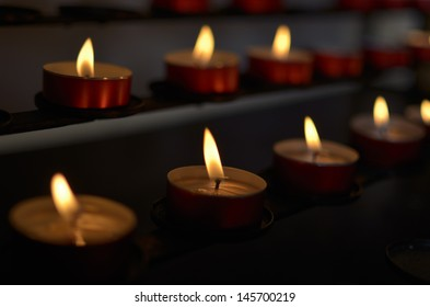 Candles in Church to remember the  dead, Indoor