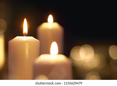 Candles light with shallow depth of field