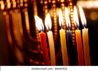 Candles Lit for the Sixth Night of Hanukkah