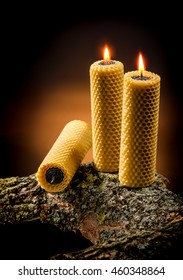 Candles made from natural beeswax