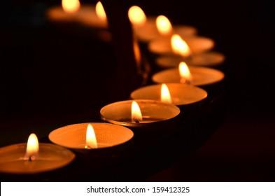 candles meditation