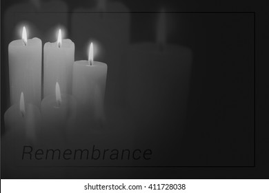 Candles Mourning Background