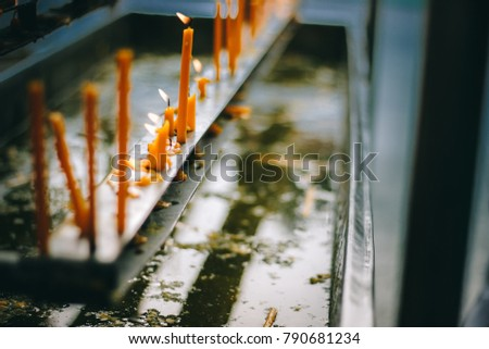 Candles Oil Candles Used Altar Within Stock Photo (Edit Now