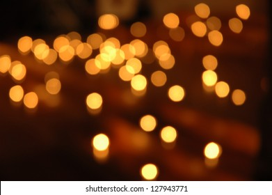 candles out of focus