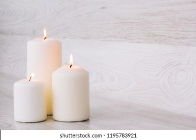 Candles for Spa with stones for a Spa