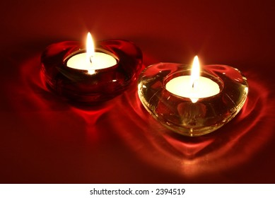 Candles for Valentine's Day, weddings, or other events involving love