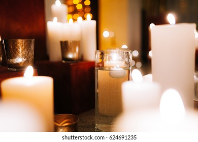 Candles in water night room triumph