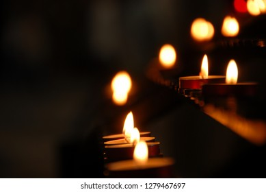Candles in Winchester Cathedral