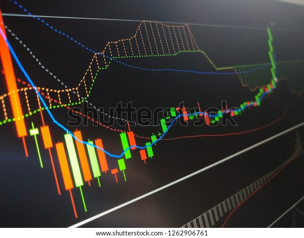 Candlestick chart of stock market for financial investment concept. Background, wallpaper.