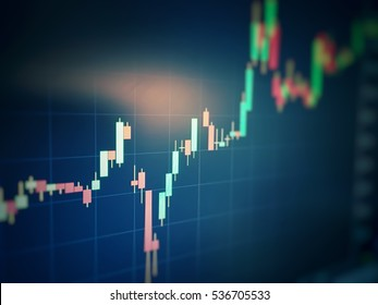 candlestick graph focus gap on graph,Business and financial concept