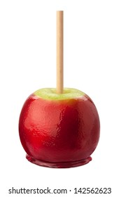 Candy Apple Isolated with clipping path.