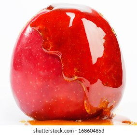 candy apple on a white background