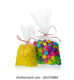 candy bags isolated on white background